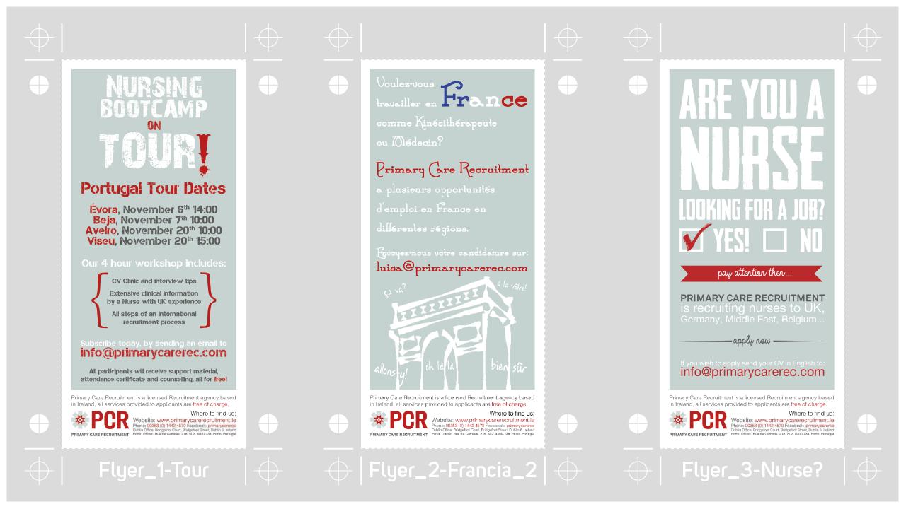 graphic design PCR-3Flyers