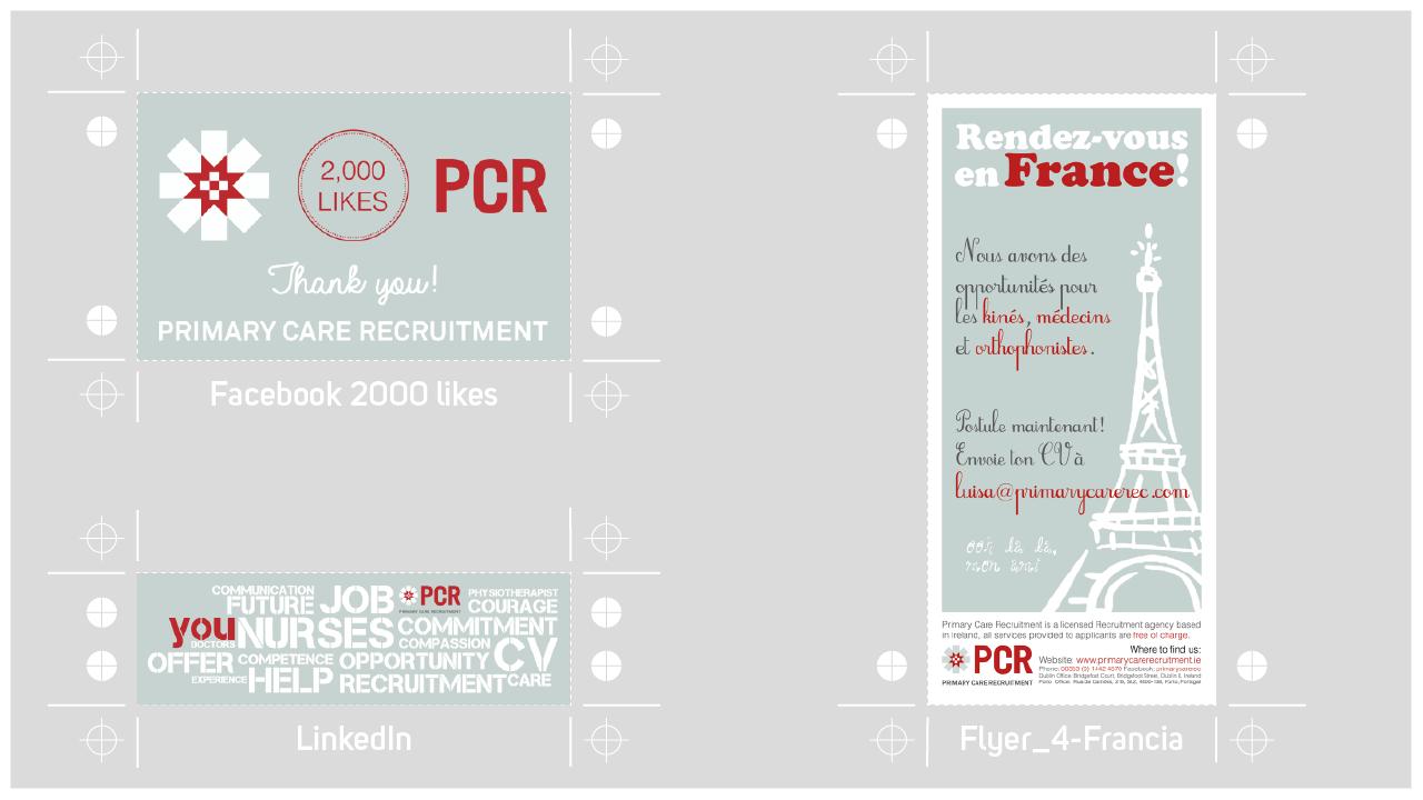 graphic design PCR-SocialMedia+flyer