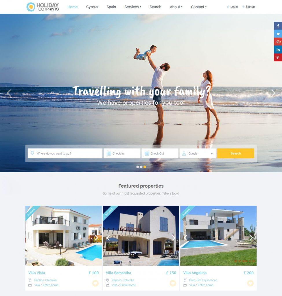Holiday Footprints-Website